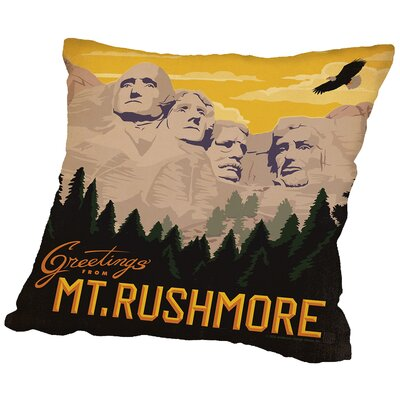 Mt Rushmore Throw Pillow Size: 18 H x 18 W x 2 D