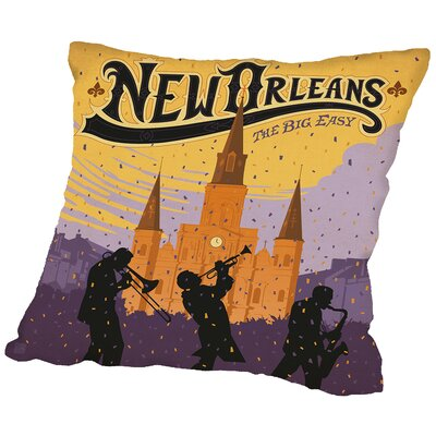 Neworleans Throw Pillow Size: 16 H x 16 W x 2 D