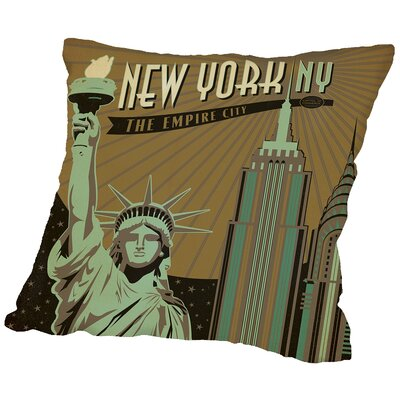 Newyork Throw Pillow Size: 18 H x 18 W x 2 D