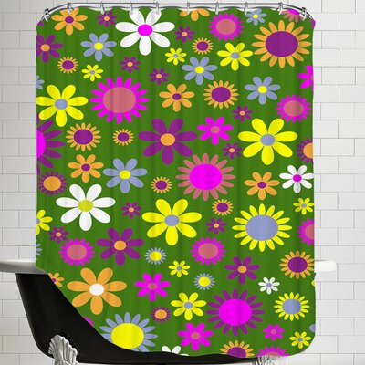 Modern Floral Artwork Shower Curtain