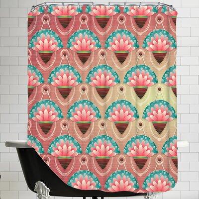 Flower Design Shower Curtain