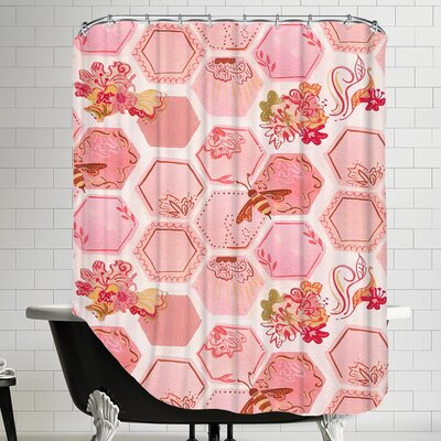 Onefeinday Honeycomb Shower Curtain