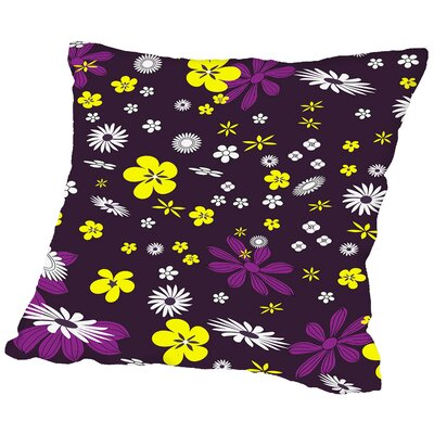 Floral Throw Pillow Size: 18 H x 18 W x 2 D