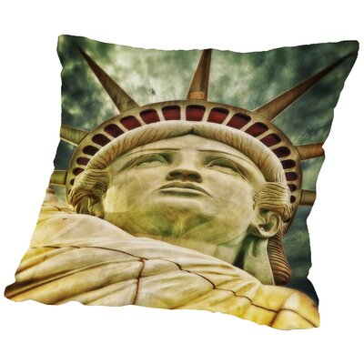 Liberty Statue US Throw Pillow Size: 16 H x 16 W x 2 D