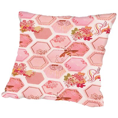 Onefeinday Honeycomb Throw Pillow Size: 14 H x 14 W x 2 D