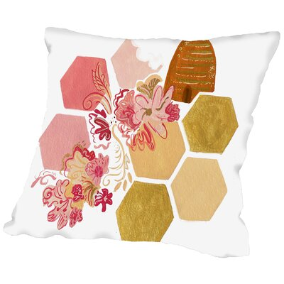 Paintedhoney Throw Pillow Size: 18 H x 18 W x 2 D