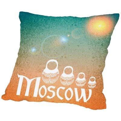 Moscow Russia Throw Pillow Size: 16 H x 16 W x 2 D