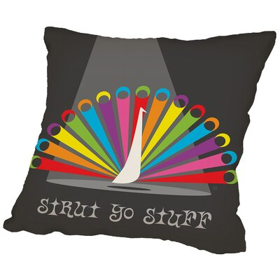 Rainbow Peacock Throw Pillow Size: 20 H x 20 W x 2 D