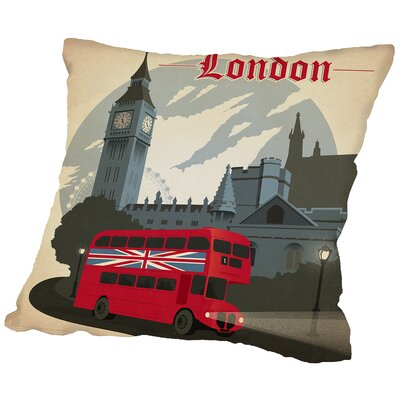 London Throw Pillow Size: 14 H x 14 W x 2 D