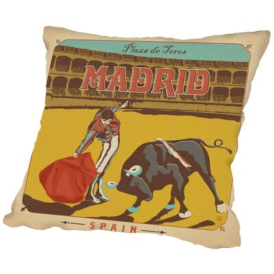 Madrid Throw Pillow Size: 18 H x 18 W x 2 D