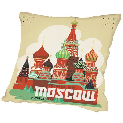 Moscow Throw Pillow Size: 20 H x 20 W x 2 D