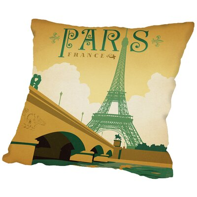 Paris Throw Pillow Size: 16 H x 16 W x 2 D