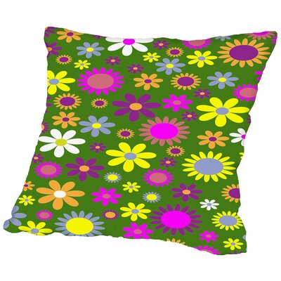 Modern Floral Artwork Throw Pillow Size: 18 H x 18 W x 2 D