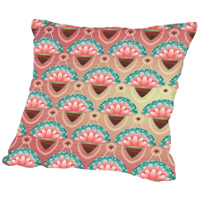 Flower Throw Pillow Size: 18