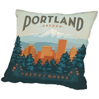 Portland Throw Pillow Size: 14 H x 14 W x 2 D