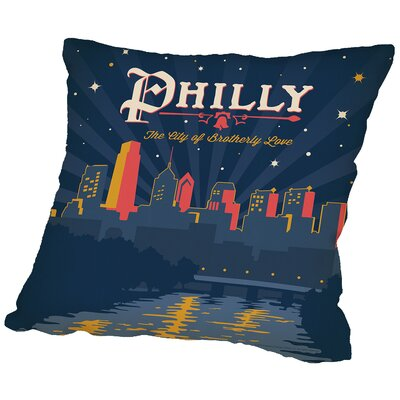 Philly Throw Pillow Size: 14 H x 14 W x 2 D