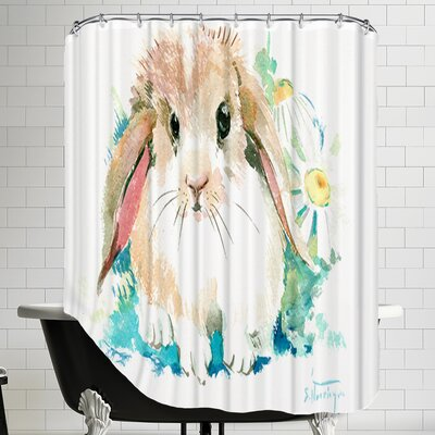 Suren Bunnyflower Shower Curtain
