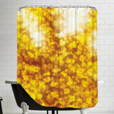 Sparkley Shiny Bokeh Shower Curtain