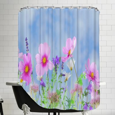 Wildlife Flower Shower Curtain
