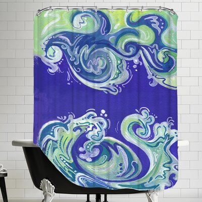 Waves Illo Shower Curtain