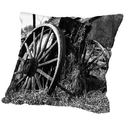 Wooden Wagon Throw Pillow Size: 16 H x 16 W x 2 D