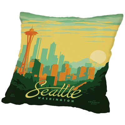 Seattle Throw Pillow Size: 16 H x 16 W x 2 D