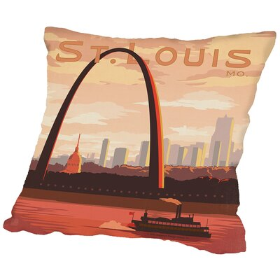 St Louis Throw Pillow Size: 16