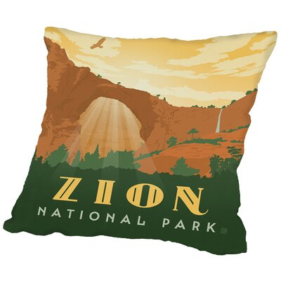 Zion Throw Pillow Size: 18 H x 18 W x 2 D
