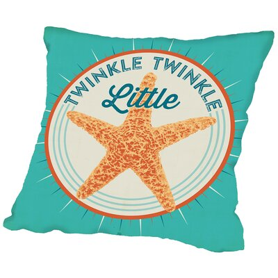 Twinkle Twinkle Throw Pillow Size: 16 H x 16 W x 2 D