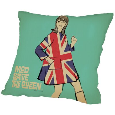 Save Thequeen Throw Pillow Size: 18 H x 18 W x 2 D