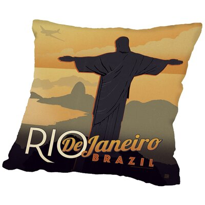Riodejaneiro Throw Pillow Size: 14 H x 14 W x 2 D