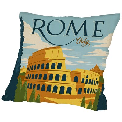 Rome Throw Pillow Size: 18 H x 18 W x 2 D