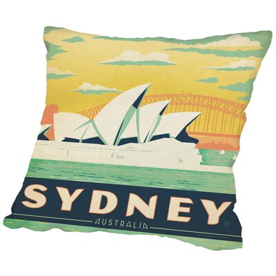 Sydney Throw Pillow Size: 14 H x 14 W x 2 D