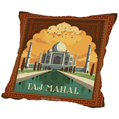 Tajmahal Throw Pillow Size: 16 H x 16 W x 2 D