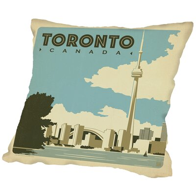 Toronto Throw Pillow Size: 18 H x 18 W x 2 D