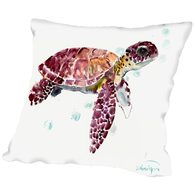 Seaturtle Cherry Throw Pillow Size: 16 H x 16 W x 2 D