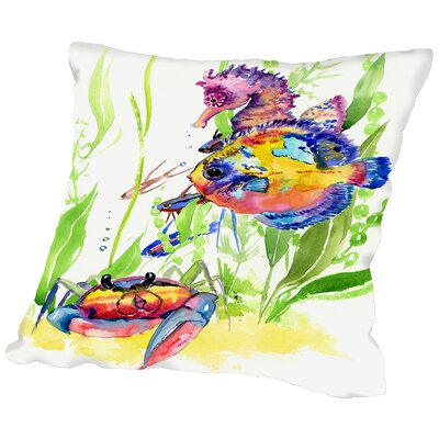 Seaworld Throw Pillow Size: 20 H x 20 W x 2 D