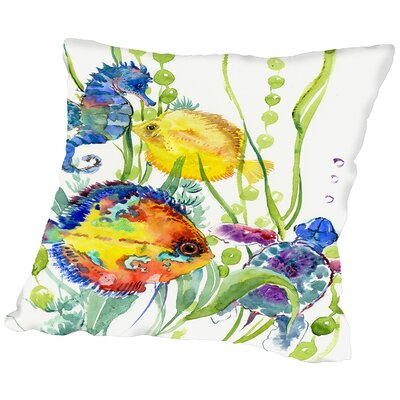 Seaworld Throw Pillow Size: 14 H x 14 W x 2 D