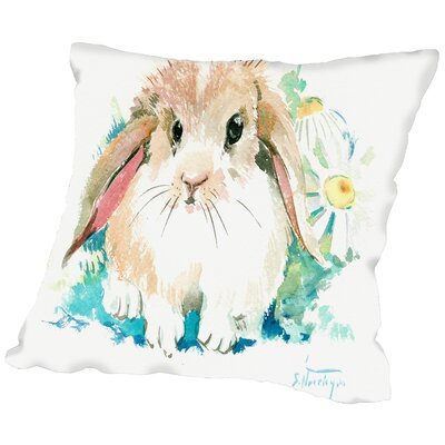 Suren Bunnyflower Throw Pillow Size: 18 H x 18 W x 2 D