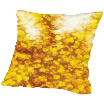 Sparkley Shiny Bokeh Throw Pillow Size: 18 H x 18 W x 2 D