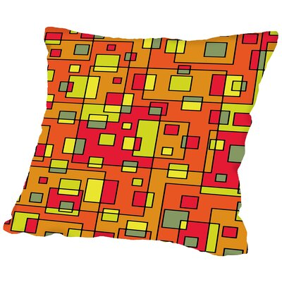 Square Throw Pillow Size: 16 H x 16 W x 2 D