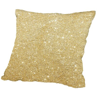 Shiny Sparkley Polyester Throw Pillow Size: 18 H x 18 W x 2 D