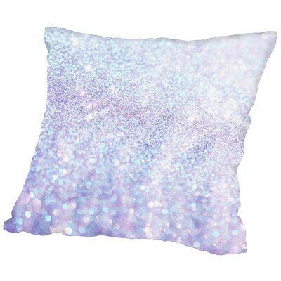 Silver Polyester Throw Pillow Size: 16 H x 16 W x 2 D