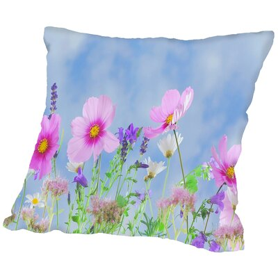 Wildlife Flower Throw Pillow Size: 20 H x 20 W x 2 D