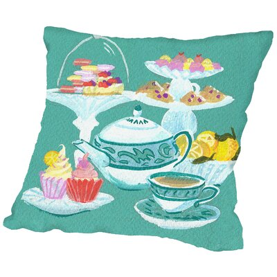 Teacakes Throw Pillow Size: 16 H x 16 W x 2 D
