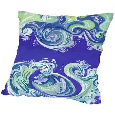 Waves Illo Throw Pillow Size: 18 H x 18 W x 2 D