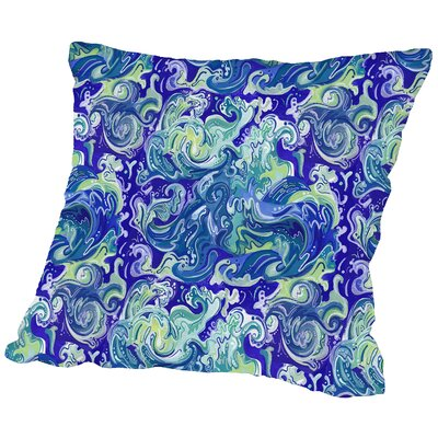 Wavetital Throw Pillow Size: 18 H x 18 W x 2 D