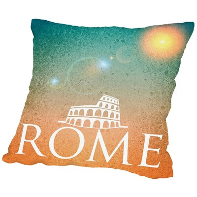 Rome Italy Throw Pillow Size: 16 H x 16 W x 2 D