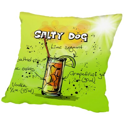 Salty Dog Cocktail Throw Pillow Size: 16 H x 16 W x 2 D