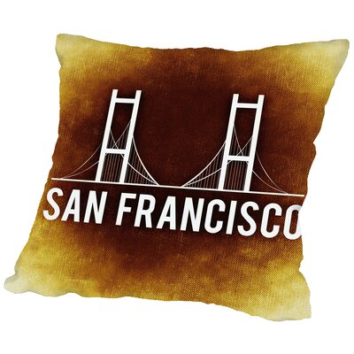 San Francisco Throw Pillow Size: 18 H x 18 W x 2 D